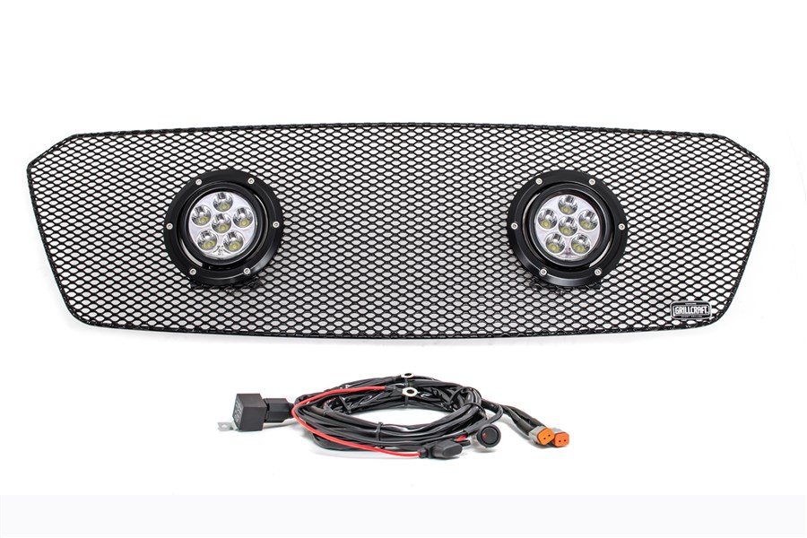 GrillCraft XE-LED 2 Lamp Upper Grille Kit Black (Part Number:SUB1747B-XE2)
