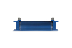 Mishimoto Universal 10 Row Oil Cooler Blue - Universal