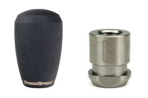 GrimmSpeed Shift Knob Stainless Steel Black w/ 5SPD Boot Retainer - Subaru 5MT Models (inc. 2002-2014 WRX)