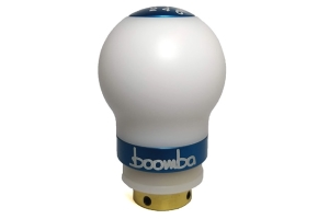 Boomba Racing Delrin Short Throw Shift Knob White / Blue - Volkswagen GTI 2010+ / Golf R 2016+