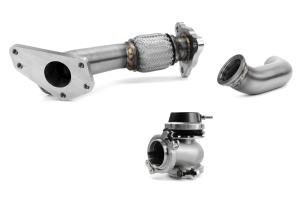 GrimmSpeed and Turbosmart 44/45mm EWG 3-Bolt Uppipe Black Wastegate Kit  ( Part Number: 007079-TBS-BK)