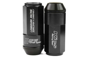 KICS Leggdura Racing Shell Type Lug Nut Set 53mm Closed-End Look 12X1.25 Black - Universal