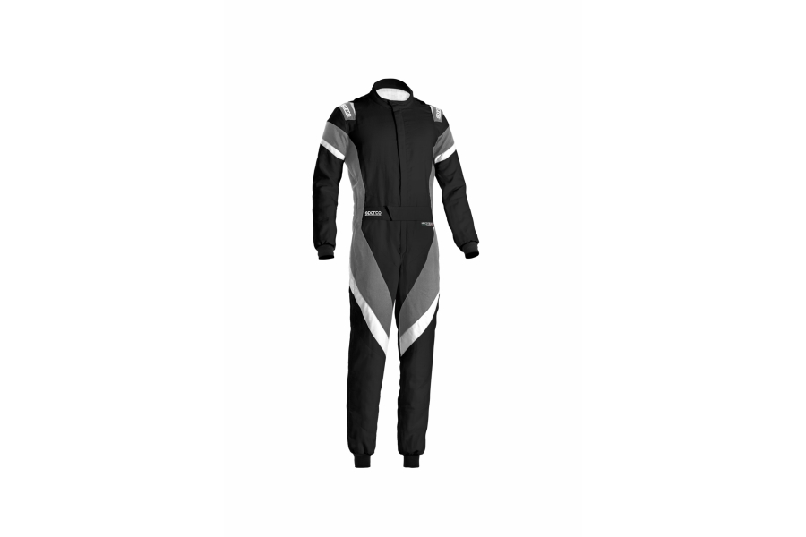 Sparco Victory Racing Suit Black / Grey / White - Universal