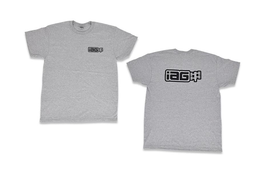 IAG Men's Boxer Logo T-shirt Grey - Universal
