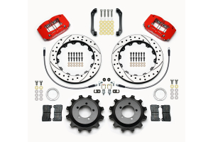Wilwood DPR 12.88in Rear Kit Drilled / Slotted Red - Subaru WRX 2006-2007