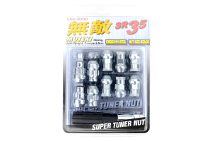 Muteki SR35 16+4 Closed Ended Silver Lug Nuts 35mm 12x1.50 (Part Number: )