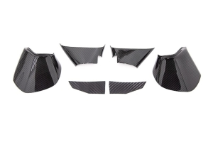 OLM LE Dry Carbon Fiber Lower Mirror Mount Cover - Subaru Models (inc. 2015-2021 WRX / STI / 2015-2017 Crosstrek)