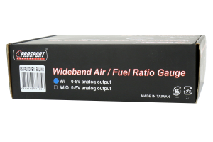 ProSport Wideband Air Fuel Ratio Digital Gauge w/O2 Sensor Blue 52mm ( Part Number:PRS PSAFRLCDWB4.9BLUWO)