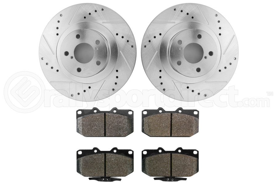 Hawk Performance Rotors w/ HPS 5.0 Pads Kit Front (Part Number:HK5339.700B)