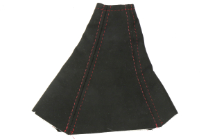 AutoStyled Black Microsuede Shift Boot w/ Red Stitching Standard Shifter - Subaru STi 2004-2007