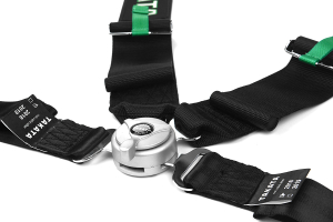 Takata Race 4 4-Point Harness Black Snap-On (Part Number: )