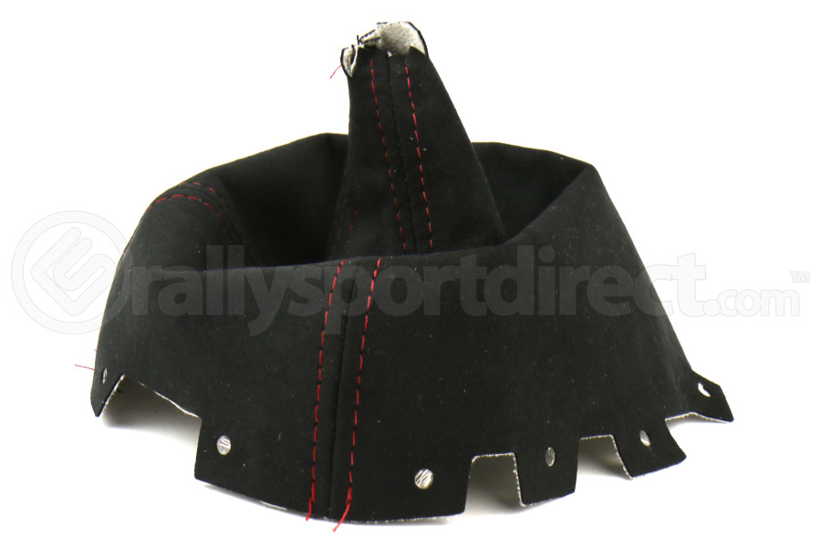 AutoStyled Black Alcantara Shift Boot w/ Red Stitching Short Shifter (Part Number:1304060101)
