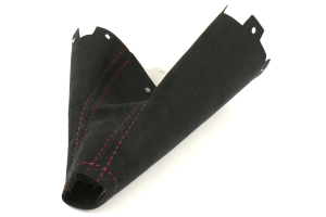 AutoStyled Black Alcantara Shift Boot w/ Red Stitching Standard Shifter ( Part Number:ASA 1303050101)
