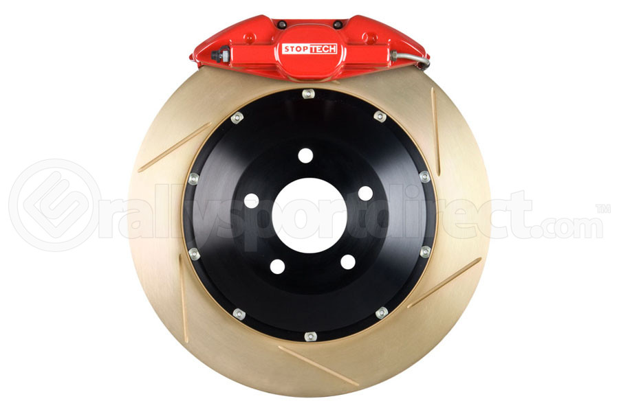 Stoptech ST-22 Big Brake Kit Rear 345mm Red Zinc Slotted Rotors (Part Number:83.842.002G.73)