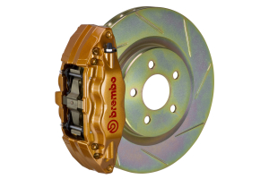 Brembo OE Gold Slotted Brake Kit Front (Part Number: )