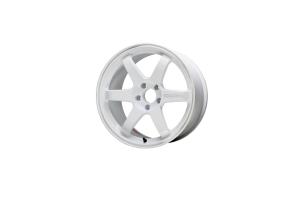 Volk Racing TE37 SAGA 18x10.5 +15 5x114.3 Dash White - Universal