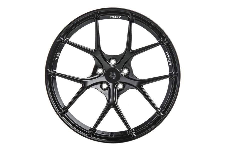 Titan 7 T-S5 19x9.5 +22 5x120 Machine Black - Universal