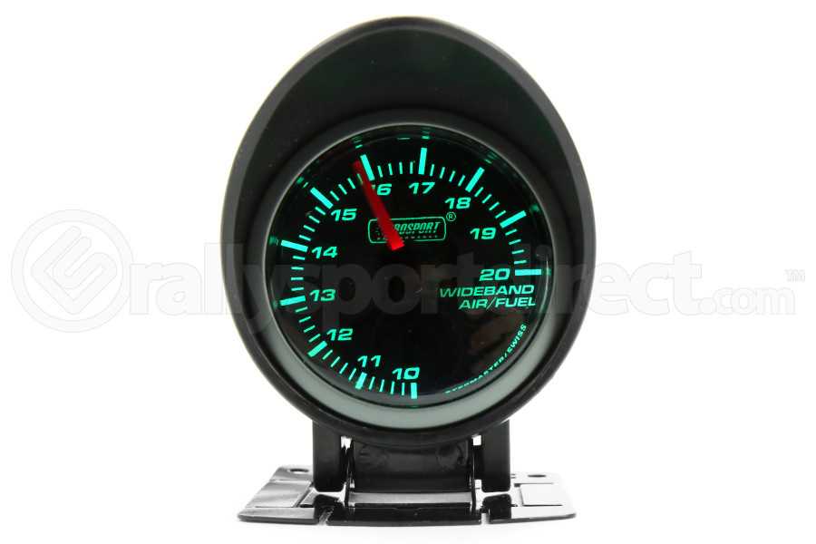 ProSport Wideband Air Fuel Ratio w/O2 Sensor Green/White 52mm (Part Number:216SMWGAFR-WO-SF)