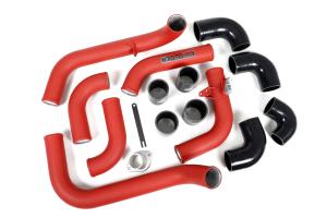 Grimmspeed Front Mount Intercooler Kit w/Red Piping - Subaru WRX 2008-2014