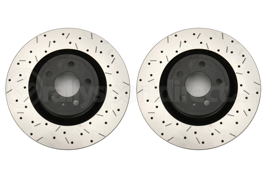 DBA 4000 Series Drilled and Slotted Rotor Pair Front (Part Number:42164BLKXSG)