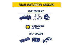 Goodyear 6 Minute Flat-to-Full Dual Flow Inflator Digital Gauge - Universal