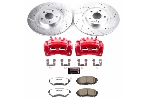 Power Stop Z26 Street Warrior Brake Kit w/ Calipers Front - Subaru Models (inc. 2006-2012 Legacy / 2008-2010 WRX)