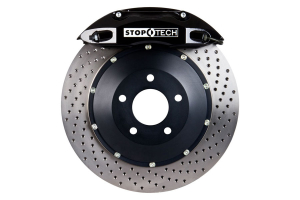 Stoptech ST-40 Big Brake Kit Front 332mm Black Drilled Rotors - Subaru Legacy GT 2005-2009