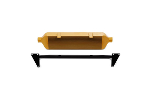 Mishimoto Front Mount Intercooler and Crash Beam Gold - Subaru STI 2015+