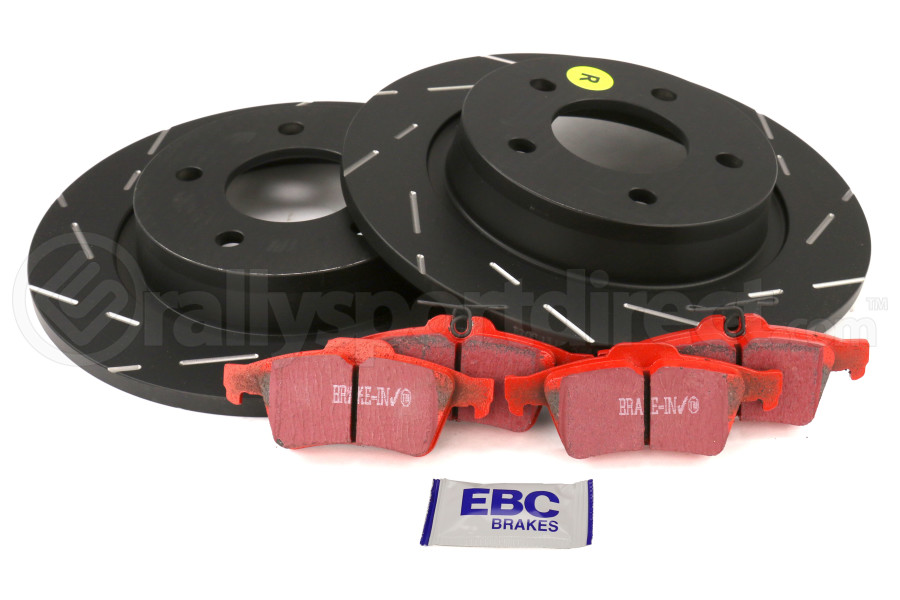 EBC Brakes S4 Rear Brake Kit Redstuff Pads and USR Rotors - Mazdaspeed 3 2007-2013