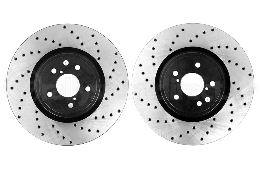 Stoptech Drilled Rotor Front Rotor Pair (Part Number:128.47024-GRP)