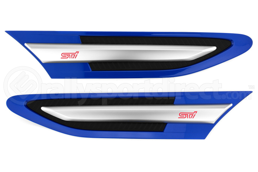 STI Front Fender Emblems World Rally Blue (Part Number:ST91112AS080+90)