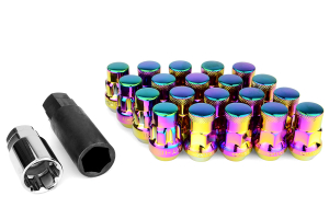 Muteki SR35 16+4 Closed Ended Neo Chrome Lug Nuts 35mm 12x1.50 ( Part Number:KIC 32926NP)