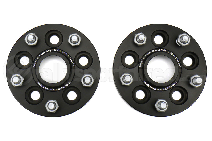 FT-86 SpeedFactory 5x100 to 5x114.3 15mm Forged Aluminum Wheel Adapters - Universal