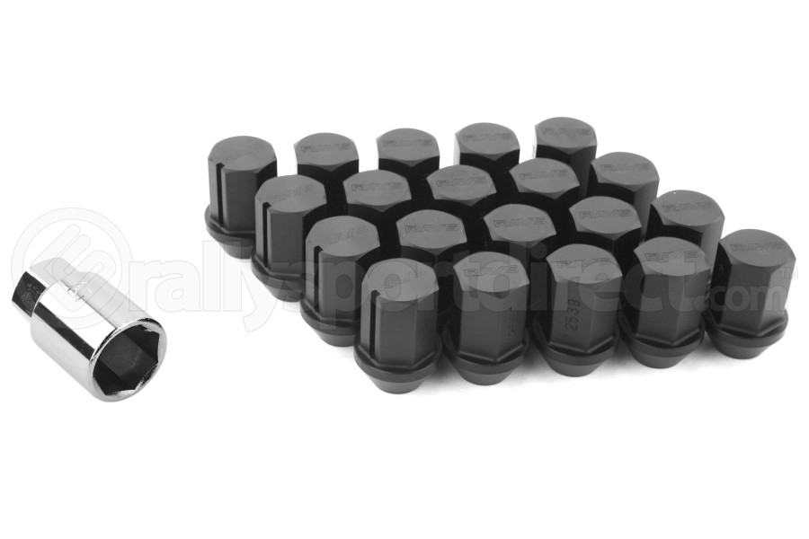Volk Racing Rays 35MM 12X1.25 Lug Nuts Black (Part Number:W3512125B)