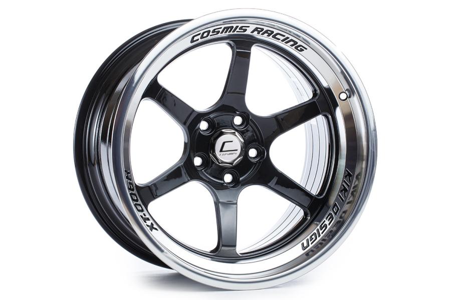 Cosmis Racing Wheels XT-006R 18x9.5 +10 5x114.3 Black w/ Machined Lip - Universal