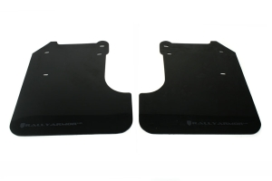 Rally Armor UR Mudflaps Black Urethane Grey Logo ( Part Number:RAL MF6-UR-BLK/GRY)