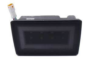 OLM NB+R F1 Rear Brake Light Smoke Lens / Black Base / White Bar - Subaru WRX / STI 2015 - 2020