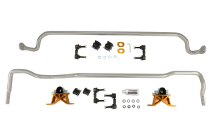 Whiteline Front and Rear 24mm Sway Bar Kit w/Mounts (Part Number: )