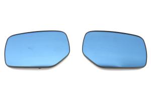 OLM Wide Angle Convex Mirrors w/ Turn Signals / Defrosters Blue - Subaru WRX / STI 2015-2020