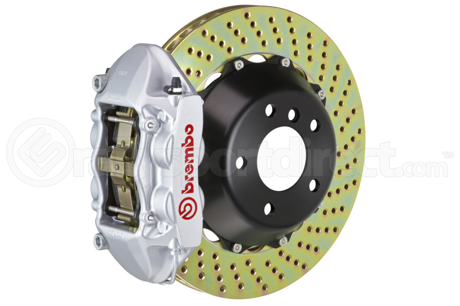 Brembo GT Systems 4 Piston Rear Big Brake Kit Silver Drilled Rotors - Ford Mustang EcoBoost 2015+