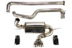 AWE Touring Edition Cat Back Exhaust Non-Resonated Diamond Black Tips - Ford Focus ST 2013+