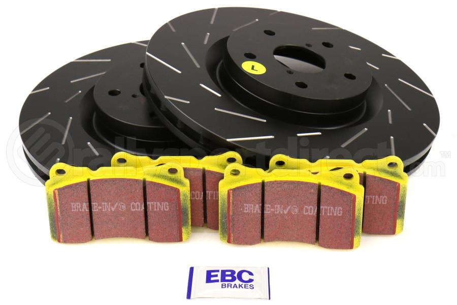 EBC Brakes S9 Front Brake Kit Yellowstuff Pads and USR Rotors - Subaru STI 2005-2017
