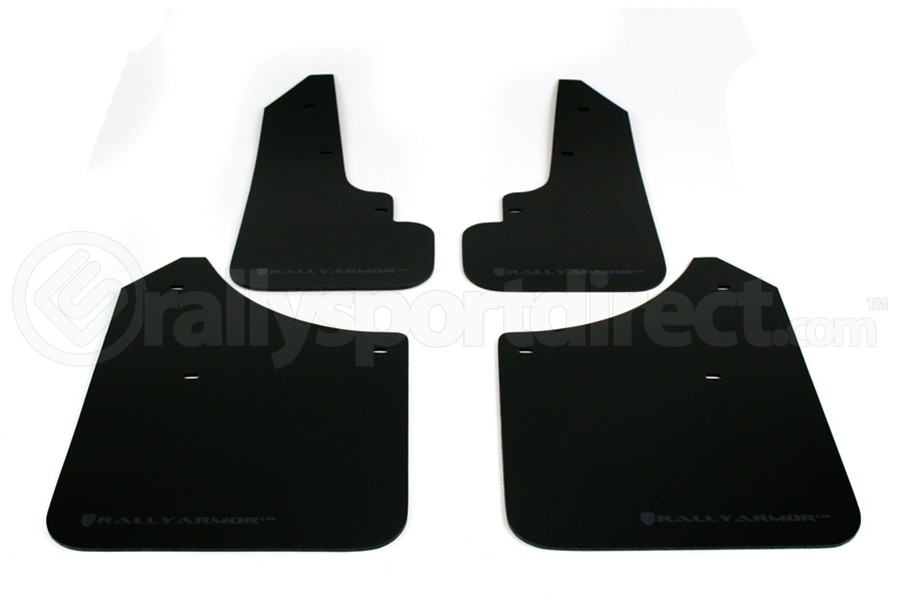 Rally Armor UR Mudflaps Black Urethane Grey Logo (Part Number:MF5-UR-BLK/GRY)