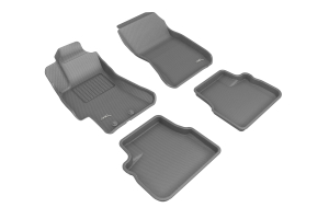 3D MAXpider KAGU Floor Liners Gray - Subaru Models (inc. 2008-2014 WRX / STI / 2008-2011 Impreza)