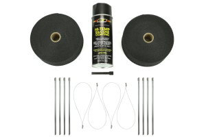 DEI Exhaust Wrap Kit Black w/Black HT Silicone Spray & SS Locking Ties ( Part Number:DEI 010094)