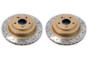 DBA 4000 Series Drilled/Slotted Rear Rotor Pair (Part Number: 4653XSG)