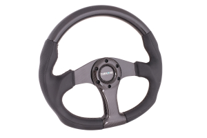 NRG Carbon Fiber Steering Wheel 350MM Oval Black Carbon - Universal