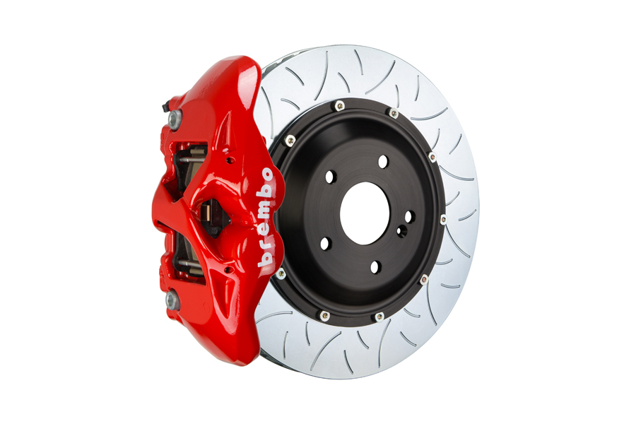 Brembo GT Systems Monobloc 4 Piston 345mm Type 3 Slotted Red - Honda Civic Type R/SI 2017+