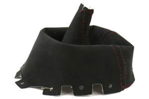 AutoStyled Black Alcantara Shift Boot w/ Red Stitching Short Shifter ( Part Number:ASA 1304060101)