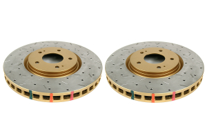 DBA 4000 Series Drilled/Slotted Rotor Pair Front (Part Number: )